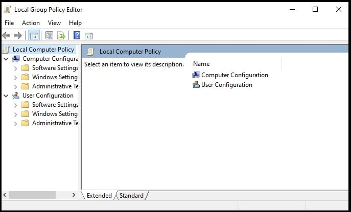 enable local group policy editor