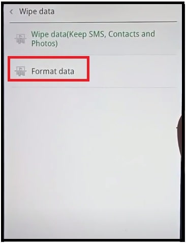 format data oppo a11k recovery mode