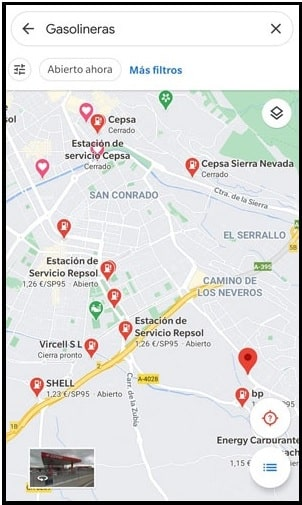 google map gas station