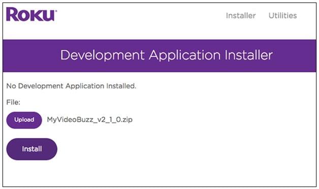 install new application on roku