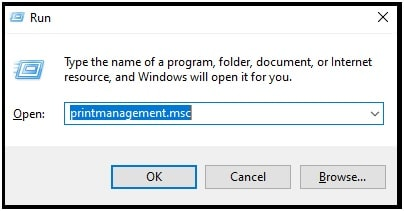 open Print Management on w10