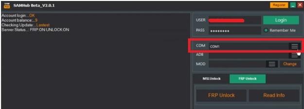 samhub tool Samsung frp unlock