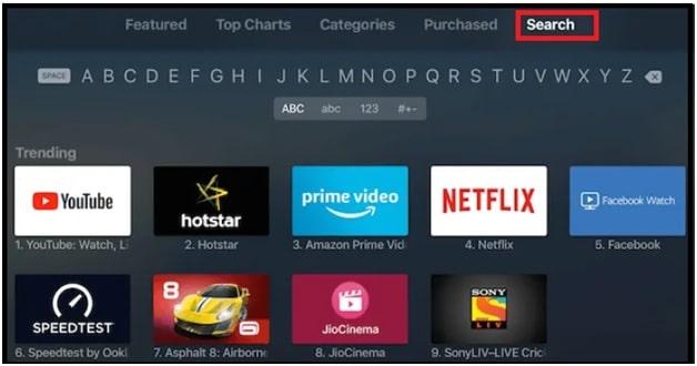 search for Crunchyroll iOS application