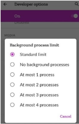 Change Background Process Limit on Android 11 From Developer Mode