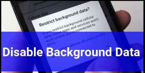 Disable Background Data In Android Phone