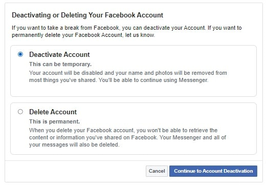 hide facebook account from public search