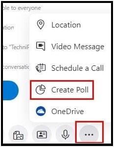 skype poll setting