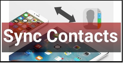 Sync Contacts From iPhone To iPad