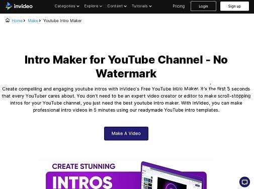 youtube intro maker tool