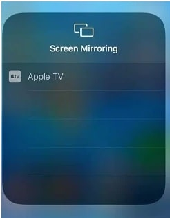 Mirror Sky Go on Apple TV from iPhone/iPad
